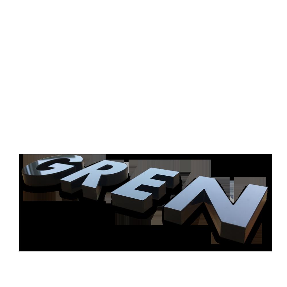 Toppen Text-bokstäver akryl plexiglas, köp till dörr, vägg på företag ON-77