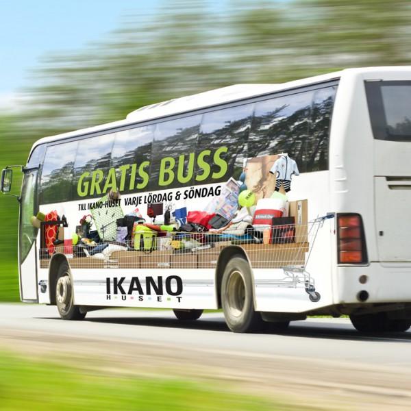 Bussfoliering med dekal klistermärken