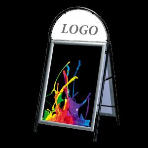 Trottoarpratare med logo från Gdirekt