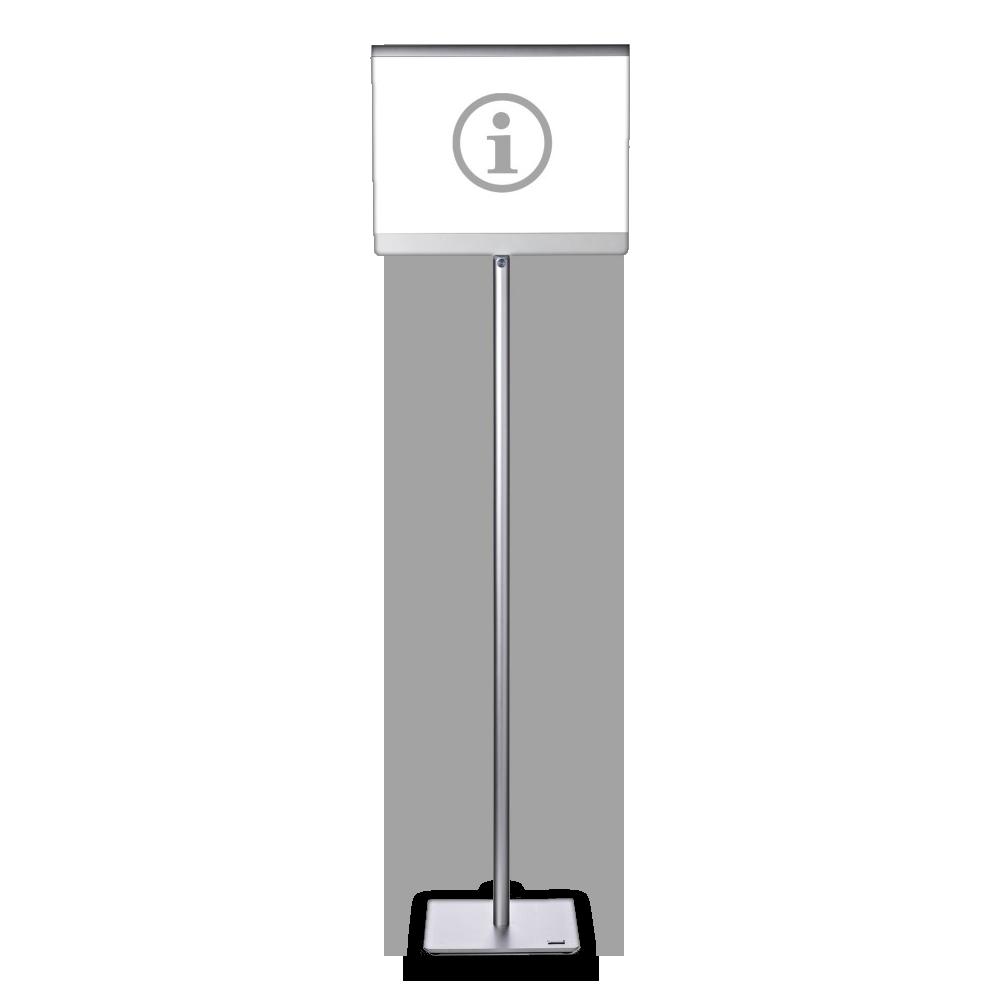 Infoställ i A4, fungerar både som stående och liggande