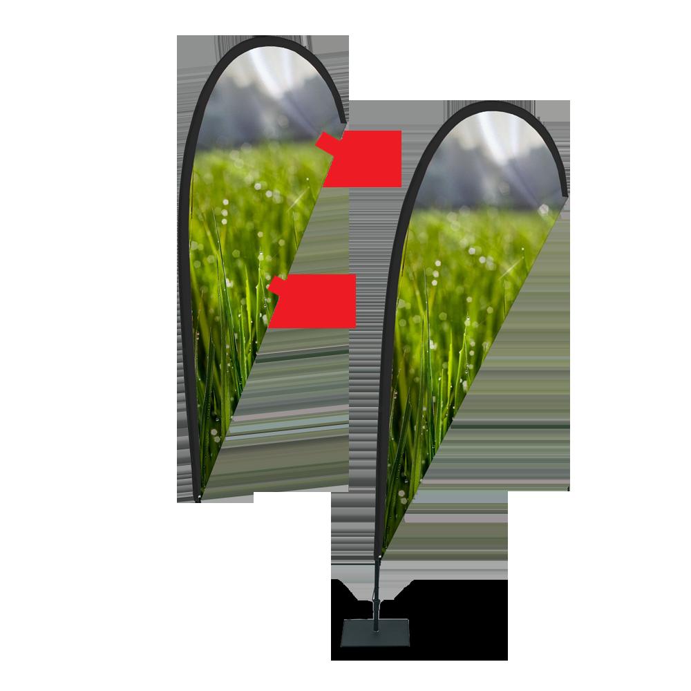 Billig beachflagga med drop form
