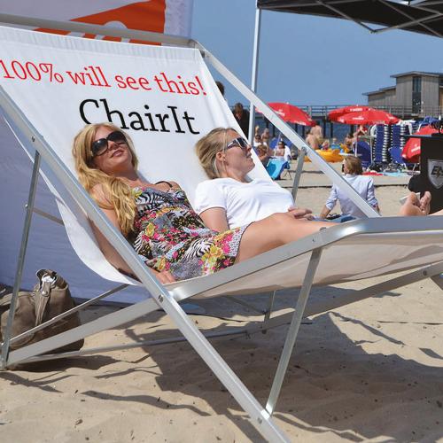 Cool reklam stol med logga