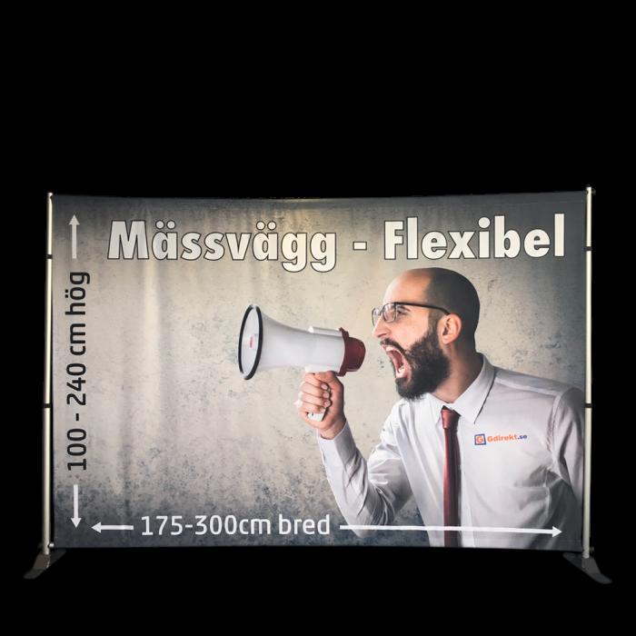 Mässvägg Flexibel - för tygvepor