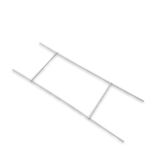 Skilteholder, kanalplast – Hvid