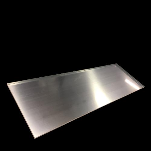 Aluminiumplåt skylt för tryckt logga till butik och bygge