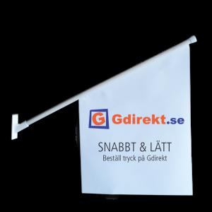 Kioskflagga & butiksflagga med fäste, tryckt med färg