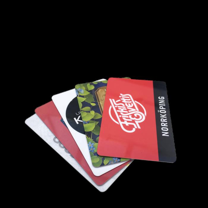 Plastkort med eget tryck