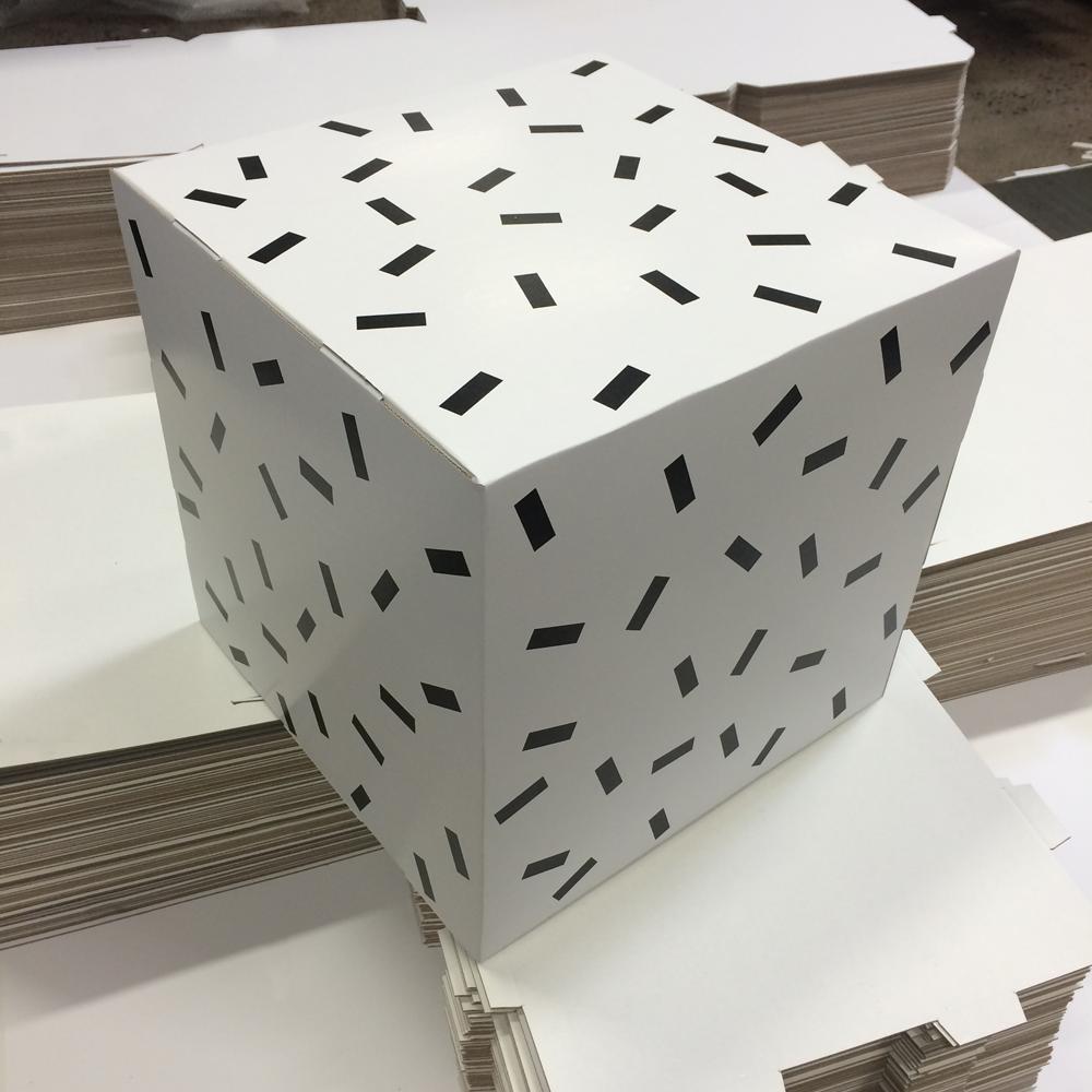 Bestil trykt karton som kube eller firkanter