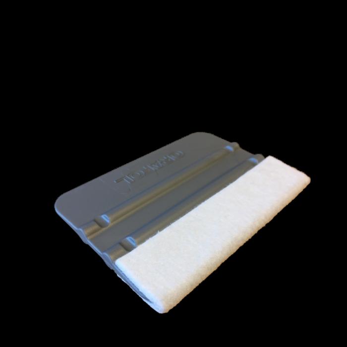 Vinylskraber med filt