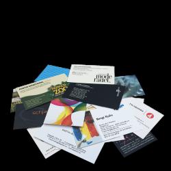 Trycksaker, visitkort och broschyrer